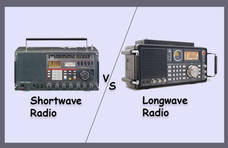 shortwave radio vs longwave radio